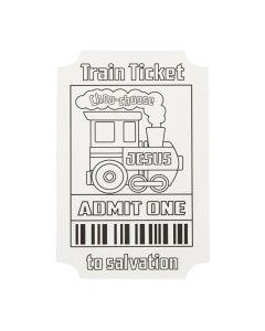 Color Your Own Religous Train Tickets