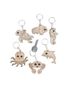 Color Your Own Sea Life Keychains