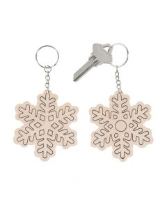 Color Your Own Snowflake Keychains