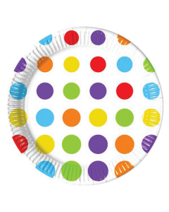 Bright Colour Polka Dot Paper Plate