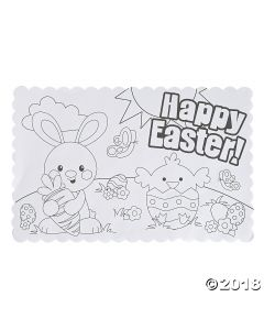 Colour Your Own Easter Placemats