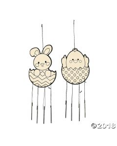 Colour Your Own Easter Wind Chimes