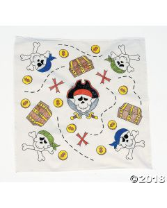 Colour Your Own Pirate Bandanas