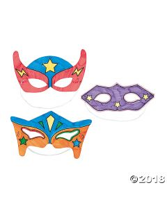 Colour Your Own Superhero Masks
