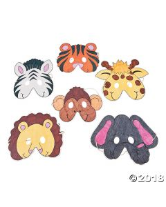Colour Your Own Zoo Animal Masks