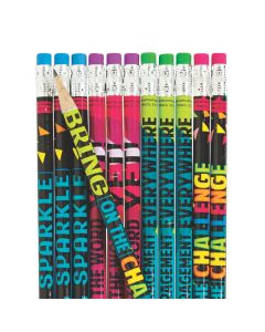Confetti Classroom Pencils Non-cello Wrapped