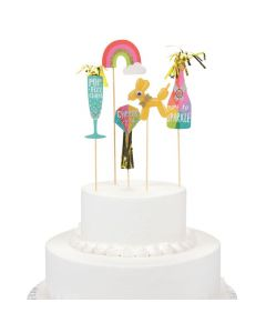 Confetti Party Cake Toppers
