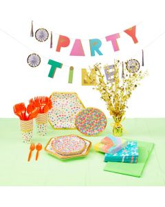 Confetti Party Tableware Kit for 16 Guests