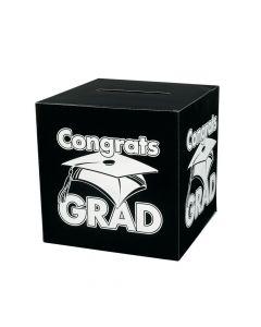 Congrats Grad Black Card Box
