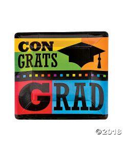 Congrats Grad Paper Dinner Plates