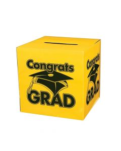 """Congrats Grad"" Yellow Card Box"