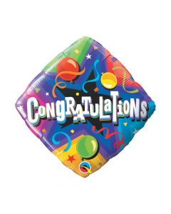 "Congratulations Party Time 18"" Mylar Balloon"