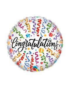 "Congratulations Streamers 18"" Mylar Balloon"