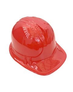 Construction Hat Plastic Red
