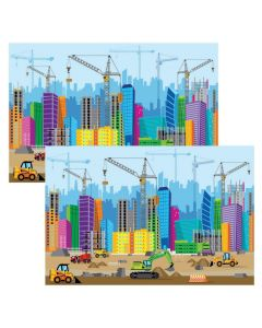 Construction VBS City Backdrop Banners