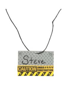 Construction VBS Name Tag Necklace Craft Kit