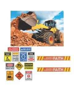 Construction VBS Site Scene Setter Decorating Kit