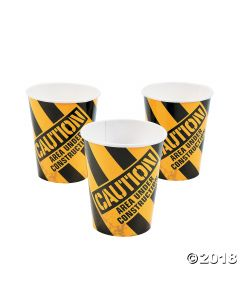 Construction Zone Paper Cups