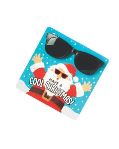 Cool Santa Glasses with Card