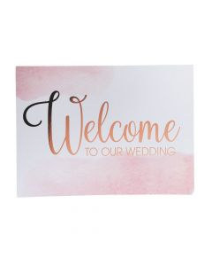 Copper Blush Wedding Welcome Sign