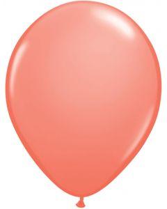 Coral 12cm Plain Round Latex Balloon