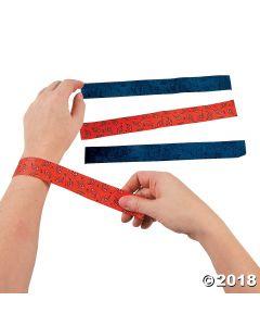 Cowboy Bandana Print Slap Bracelets