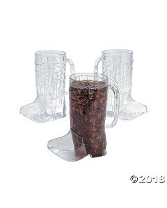 Cowboy Boot Plastic Mugs