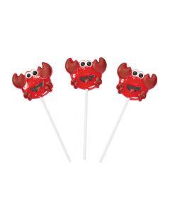 Crab Character Lollipops