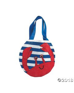 Crab Tote Bags