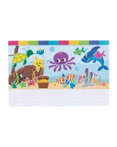 Create and Write Sea Life Sticker Scenes