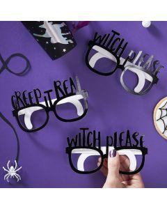 Creep It Real - Black Foiled Fun Glasses