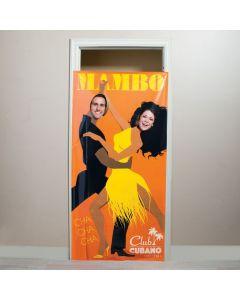 Cuban Couple Photo Door Banner