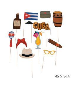 Cuban Party Photo Stick Props