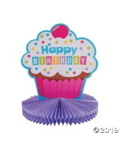 Cupcake Birthday Party Centerpiece