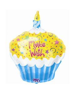 Make a Wish Cupcake Shape Foil Balloon