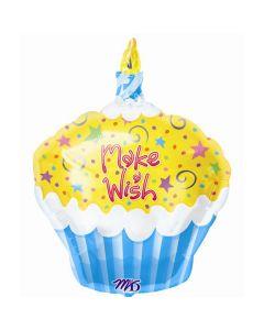 Make a Wish Cupcake Shape Foil Balloon