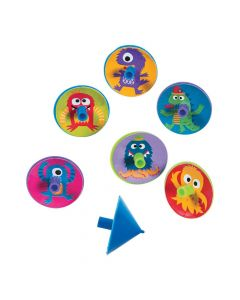 Cute Monster Spin Tops
