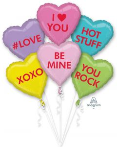 Candy Hearts Balloon Bouquet