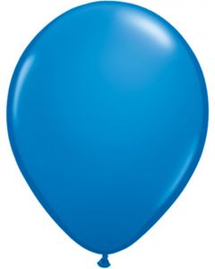 Dark Blue 12cm Plain Round Latex Balloon