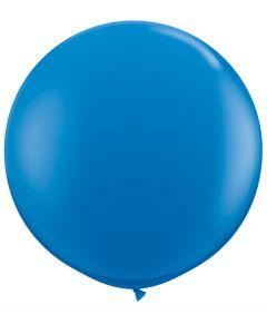 Dark Blue 91cm Plain Round Latex Balloon