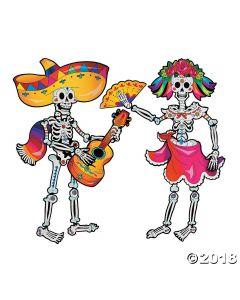 Day of the Dead Couple Jointed Cutouts
