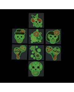Day of the Dead Glow-in-the-Dark Tattoos