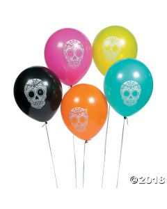 Day of the Dead Latex Balloons