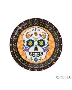 Day of the Dead Paper Lunch Plates