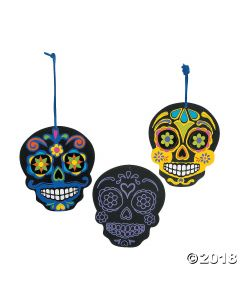 Day of the Dead Scratch And Reveal Ornaments
