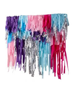 Deluxe Blue, Purple and Pink Streamer Backdrop Decoration Kit