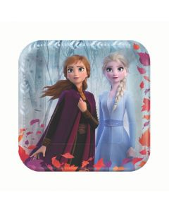 Disney's Frozen II Square Paper Dinner Plates