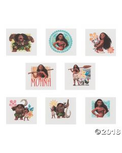 Disneys Moana Temporary Tattoos