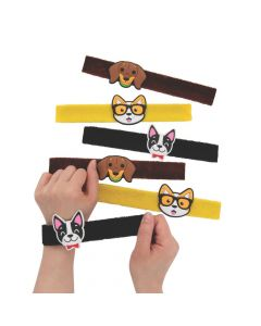 Dog Party Furry Slap Bracelets