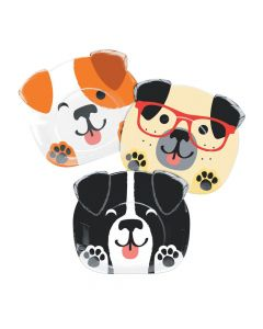 Dog Party Paper Dinner Plates